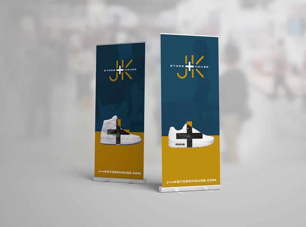 J + K Store House custom Logo design by KC Logos